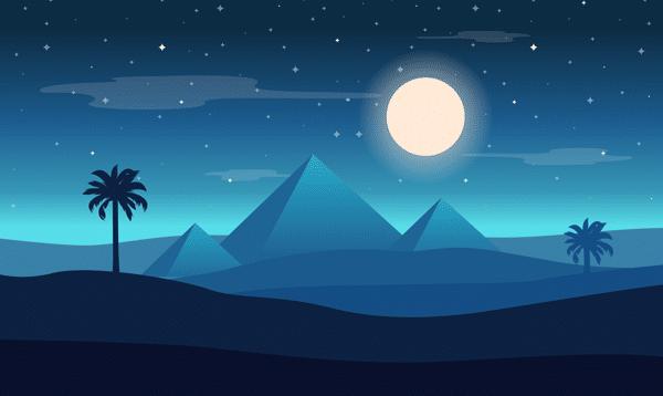 Pyramides-au-clair-de-Lune