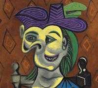 Picasso - Femme assise à la robe bleue