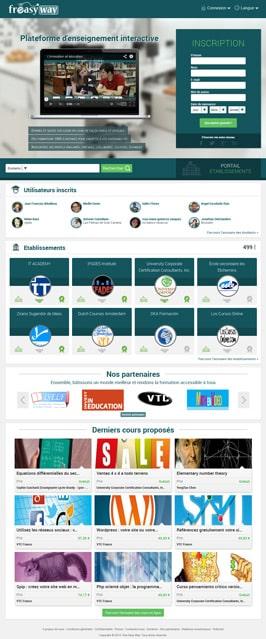 Page d'accueil française du site Web Freasyway