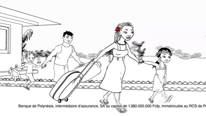 Banque de Polynésie - la famille part en vacances