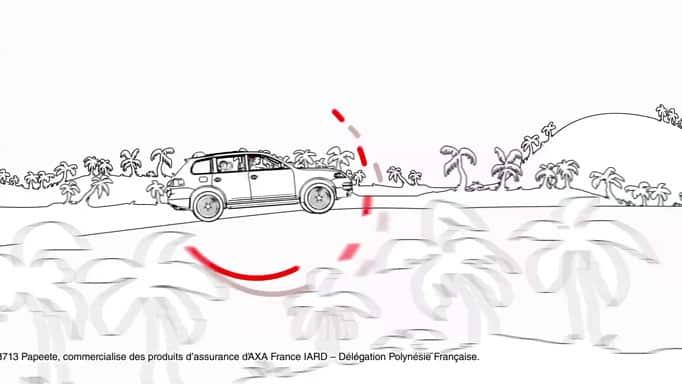 Banque de Polynésie - la famille roule en voiture