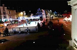 La Patinoire de Vesoul en soirée
