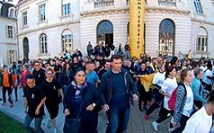 Speed Rentrée - danse devant la mairie de Vesoul