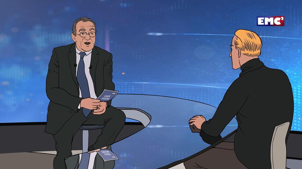 L'avatar animé de Jean-Pierre Pernaut accueille sur son plateau un spécialiste de la BD