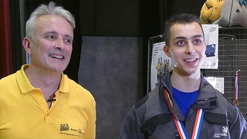 Arnaud Marandet et son coach Denis Bienfait